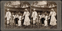 Burmese Princes - a royal group at the Durbar, Delhi, India